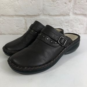 Women's PROPET Shoes Size 5 M Brown Leather Clogs